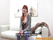 Sexy Redhead Babe Sucks And Rides A Hard Cock