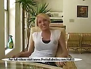 A Nice Blonde Natural Breasts Video