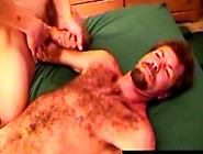 Mature Bear Tugging On His Hard Cock
