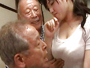 Two Horny Grandpas Devour Pretty Japanese Babe's Juicy Twat