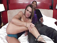 Sex-Addicted Tight Milf Sucks Big Black Cock In Condom