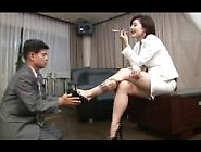 Free Asian Foot Femdom Smoking With Cigarette Holder