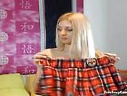 Hot Teenie Blonde With Big Boobies Sucks Dick On Webcam