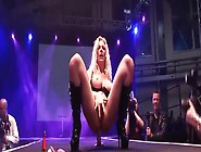 Softcore Solo Girl Show On The Stage From Big-Titted Blonde