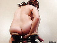 Experienced Porn Slut With Huge Fake Tits Is Stretching Her Butt