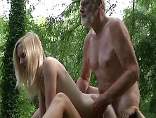 Cute Blonde Teen Babes Enjoys One Hard Cock Of An Older Dude