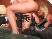 Cum-Swapping Blondes In Latex