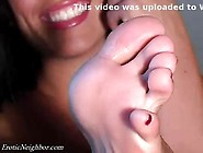 Lexi Lapentina Self Toe Suck