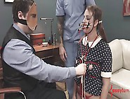 Deranged Doll Girl Gets Face And Ass Fucked