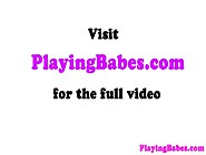 Hot Blonde Glamour Babe Solo Plays