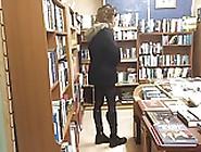 Crossdresser Flashing In Bookstore