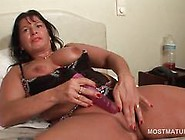 Big Ass Mature Toys Her Pussy And Shows Off Tits At Home
