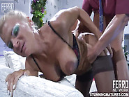 Wild Mature Whore Licks Throbbing Dick Of Younger Lad
