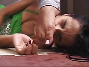 Beautiful Brazilian Girl Playing With Her Slave