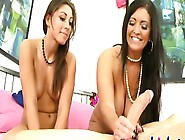Brunette Milf Teaches Young Girl How To Suck Cocks