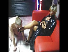 Lady Barbara Footjob (2)