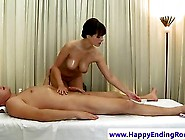 Massage Model With Big Tits Sucking Before Riding