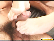 Sweet Lola With Her Feet Smothered In Cum