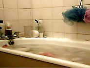 Young Bimbo Voyeured Washing In The Soaped Bath