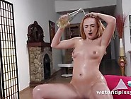 Hot Blondie Eva Berger Gets Wet And Pissy