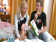 The Skinny Student Lisse Fucking With Her Buddy On The Bed