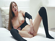 Big Tit Goddess Connie Carter Fingers Her Pussy