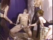 Merciless Mistresses Team Up To Make A Slave's Cock Hurt Bad