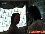 Sexy Young Brunette Babysitter With Luscious Boobs