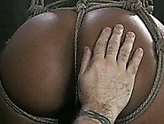 Sexy Ebony Chick With A Gag In Mouth Is Punished By Her White Ma