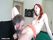 Pretty Young Teen Gets Pussy Licked And Fucked By A Old Dude
