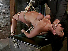 He Bondages Her Sexy Tits And Suspends Her To Arch That Hot Body