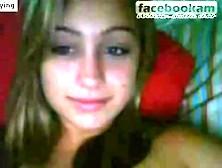 Sweet Teen Girl Chatting On Facebook Cam