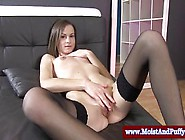 Big Taco Babe In Stockings Solo Action