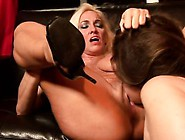 Busty Mature Lesbian Teaches Her Young Lover How To Strapon Fuck