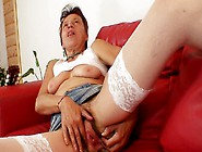 Czech Whore Saskia With Saggy Masturbates Hairy Pussy