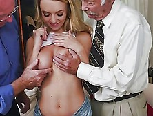 Molly Maes Hottest Deep Throat Blowjob Into Double Blowjob