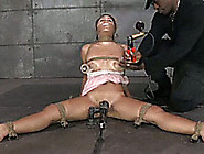 Sweet Girl With Pumps On Her Boobs Got To B Punished By Her Mast