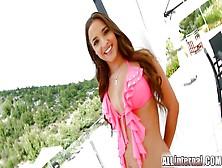 Allinternal Stunning Brunette Reveals Her Anal Creampie
