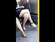#36 Girl With Crossed Legs In Mini Dress And High Heels