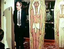 Retro Party Guests Stripshow Egyptian Mummies
