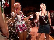Mature Amateur Slut Shows Ass In Miniskirt In Street Party