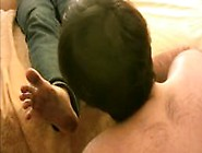 Italian Footbitch Licks Clean His Teen Master's Dirty Feet (Eng