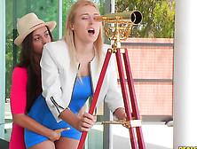 Passionate Lesbians Natalia Starr And Abigail Mac