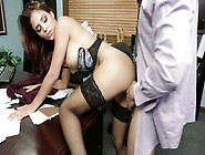 Astonishing Booty Secretary Jasmine Caro Rides Lewd Preston Park