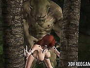 Hot 3D Redhead Elf Babe Getting Fucked By An Ogre