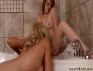 Milf Mia And Sexy Teen Toying In The Bathtub