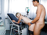 40+ Blonde Skank Swetlana N.  Gets Drilled On The Exam Table