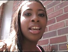 Juggy Ebony Mia Peach Blowing White Dick