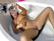 Roxy Raye Pussy Squirting On Own Face In Bathtub