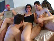 Tall French Amateur Mature Triple Teamed
